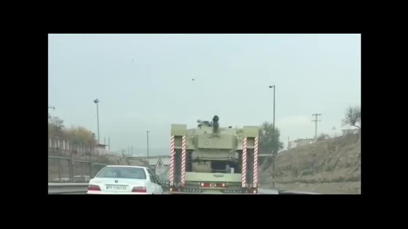 Иран продолжает перебрасывать танки в приграничные с Азербайджаном районы