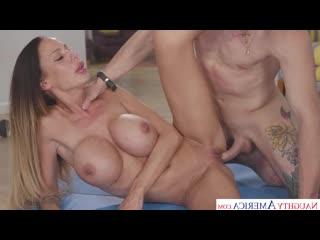 McKenzie Lee - Mckenzie Lee Works Up A Sweat Before Fucking Sons Friend [Big Fake Tits, Blowjob, Brunette]