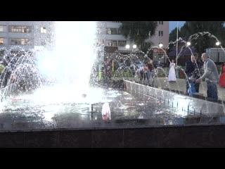 В Дюртюлях открылся новый светящийся фонтан  #ДюртюлиТВ