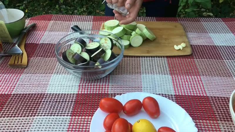 Форель с овощами на углях БОМБА