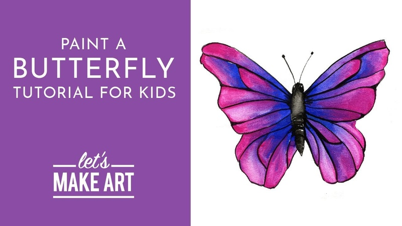 Butterfly Watercolor Tutorial for Kids with Sarah Cray