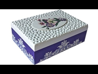 DIY DECOUPAGE BOX WITH MODELLING CLAY / NEW IDEA FOR DEOCUPAGE BOX