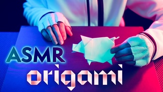 ASMR Origami PIG 🐷CRINKLY Folding PAPER 📰Special Chinese New Year - NO TALKING