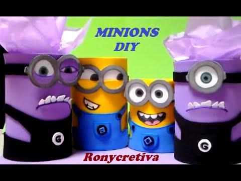 How to make Minions box pencil holder VIDEO 1 Dulceros de Minion hechos con latas vacías