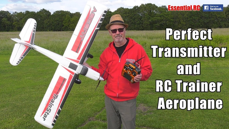 LEARN TO FLY RC ON A BUDGET CHEAP RC radio TRANSMITTER and TRAINER aeroplane