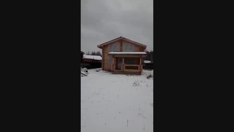 СК Срубы Севера наша работа дом-баня из проф.бруса Московская область кп Духанино парк