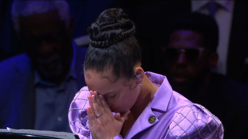 Alicia Keys performing Beethoven's Moonlight Sonata in honor of Kobe Bryant