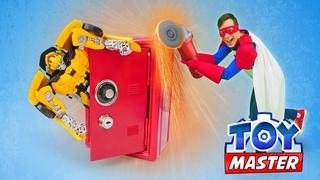 Игры битвы - Автобот Бамблби в ловушке Десептиконов! – Роботы Трансформеры в видео шоу Той Мастер