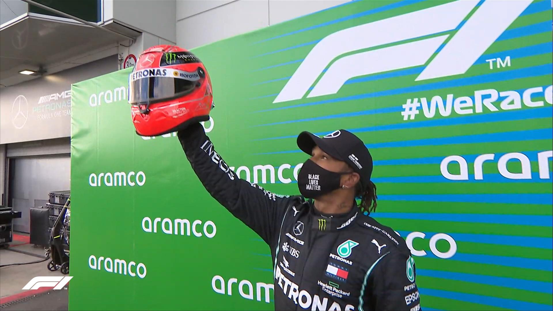 Льюис Хэмилтон сравнялся по числу побед с Михаэлем Шумахером