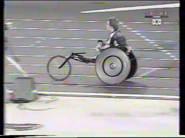 Sydney 2000 Paralympic Games Womens T53 200m Final poor quality