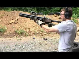 7 barrel pipe shotgun live fire test