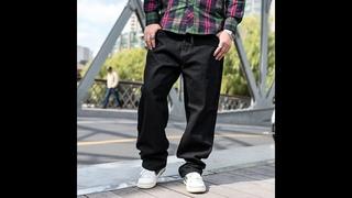 Мужские прямые джинсы оверсайз, темно синие свободные мешковатые джинсы в стиле хип хоп, джинсы 42, 44, 46, для весны