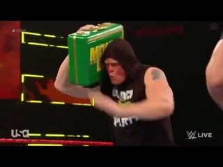 Brock Lesnar Dancing With New Money in the bank briefcase