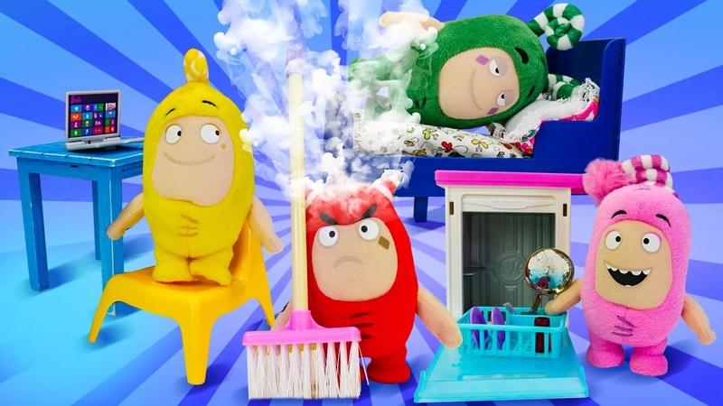¡Los juguetes Oddbods hacen limpieza Vídeos de juguetes Vídeos para niños pequeños