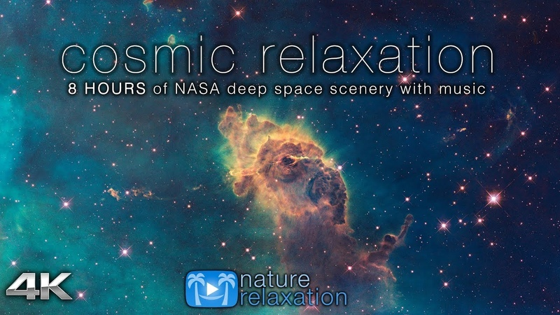 COSMIC RELAXATION: 8 HOURS of 4K Deep Space NASA Footage Chillout Music for Studying Working Etc