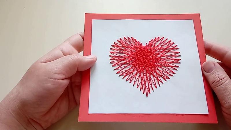 Творческая мастерская Летний калейдоскоп открытка в технике Изонить Сердце