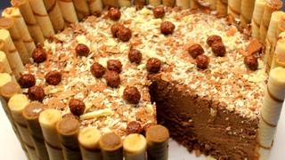 Торт из шоколадных вафель. Шоколадный вафельный торт без выпечки и без kitkat. Делаем сами!