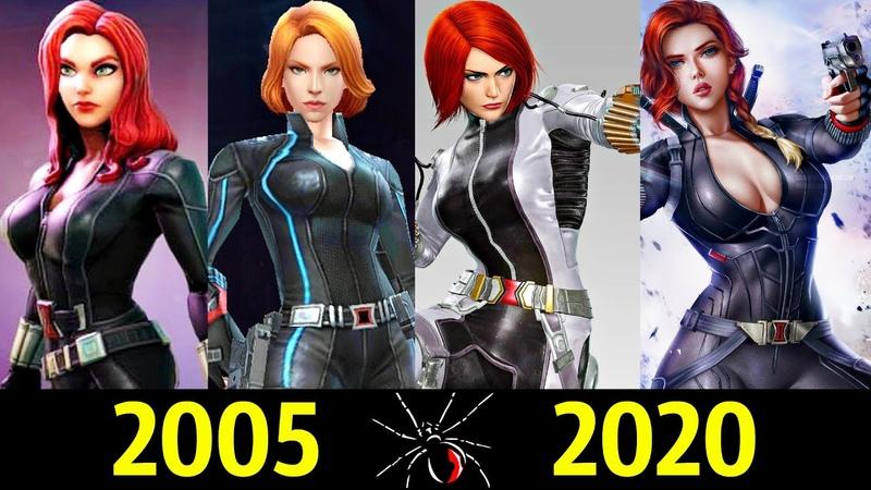 ⚫ Черная Вдова Эволюция в Играх 2005 2020 👊