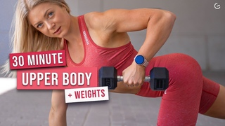 growingannanas - 30 MIN INTENSE UPPER BODY With Dumbbells, Arms & Shoulders | Силовая тренировка для продвинутых на руки и плечи