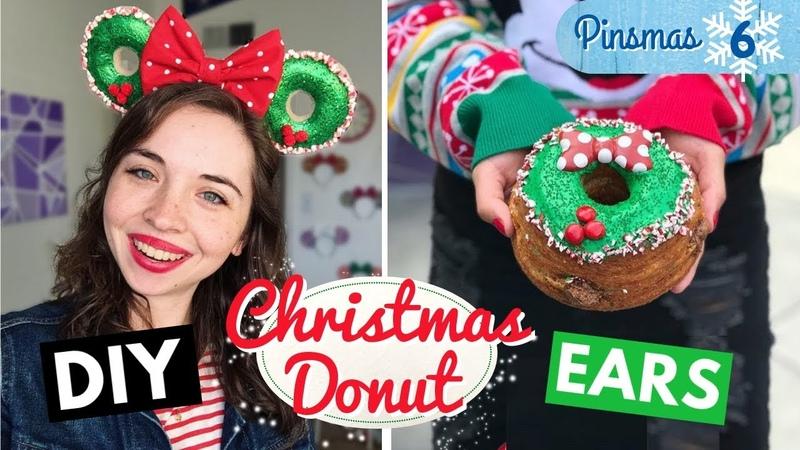 🍩🎄 DIY Christmas DONUT Minnie Mouse Ears 🎄🍩 Pinsmas Day 6
