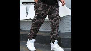 Мужские камуфляжные брюки карго faliza, повседневные хлопковые свободные брюки в стиле хип хоп с несколькими карманами, 9xl pa44