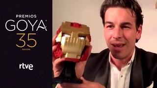 MARIO CASAS, Goya a mejor actor protagonista   Premios Goya 2021