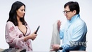 Джеки Чан показал мастер-класс / Уроки самообороны и интервью с актером