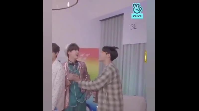 Hobi rubbing Jin's chest 2seok seokjinism