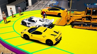 The RAREST CARS in GTA 5 vs MEGA RAMP! Endless crusher (Euphoria Physics Fails) GTA 5 Spiderman