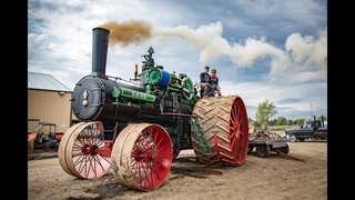 FIRING UP the 150 CASE - The largest steam traction engine in the world prepares for a record pull