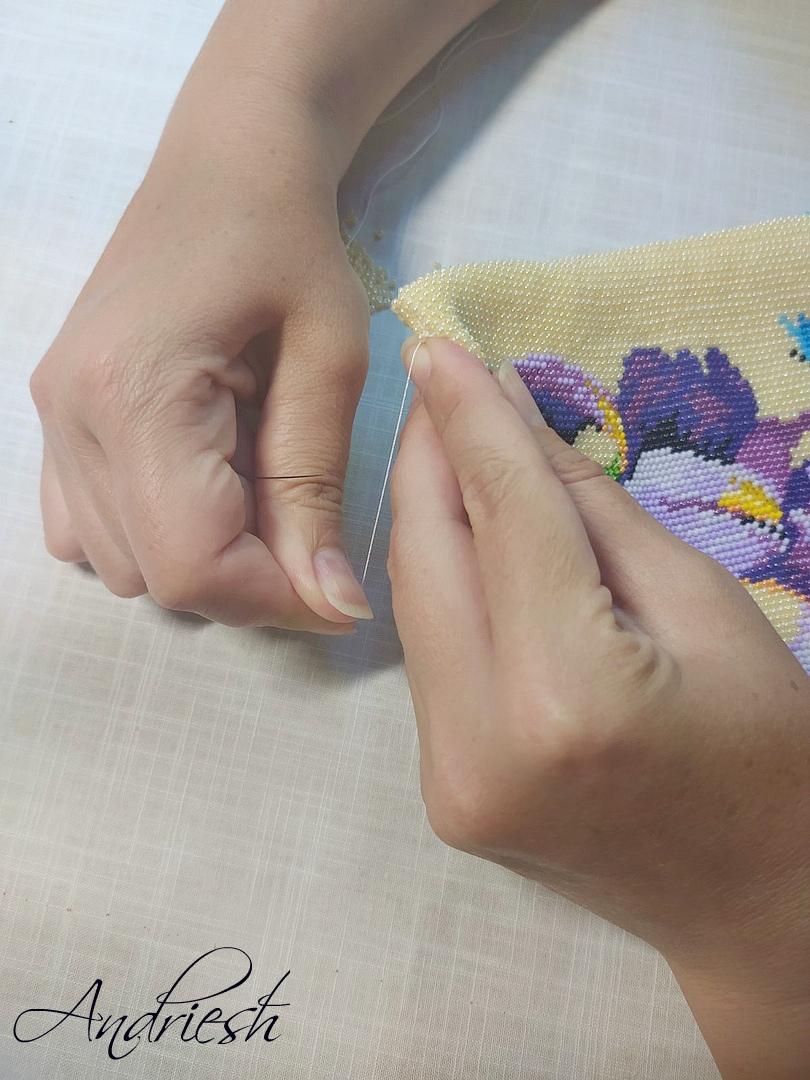 Как я сшиваю донышко и вшиваю в сумки подклад и фермуар., изображение №7