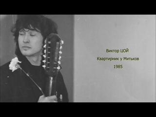 Квартирник у Митьков | 1985 | Виктор Цой
