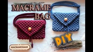 Macrame BAG Tutorial   DIY HandMade / Fanny Pack / Waist Bag