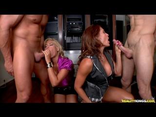 Bridgette B, Rachel Love, Monique Fuentes - Who Got Served [Big Tits, Blowjob, CFNM, Group, Mature, MILF, Oral, Sex]