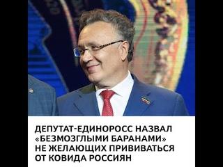 Депутат-единоросс назвал «безмозглыми баранами» не желающих прививаться от ковида россиян