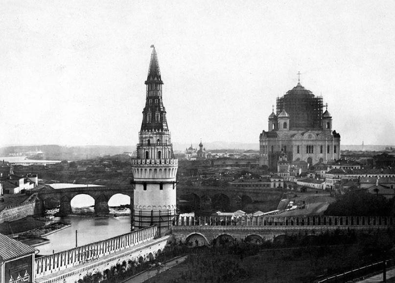 Строительство храма Христа Спасителя. 1860 год