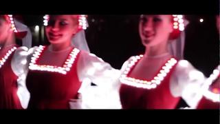 Русский народный танец в Сибири Светодиодное шоу