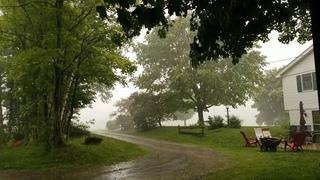Vermont Thunderstorm 1 - Lightning, Thunder, Farm Sounds (Slow TV - 1080p HD - Stereo - 30 min)