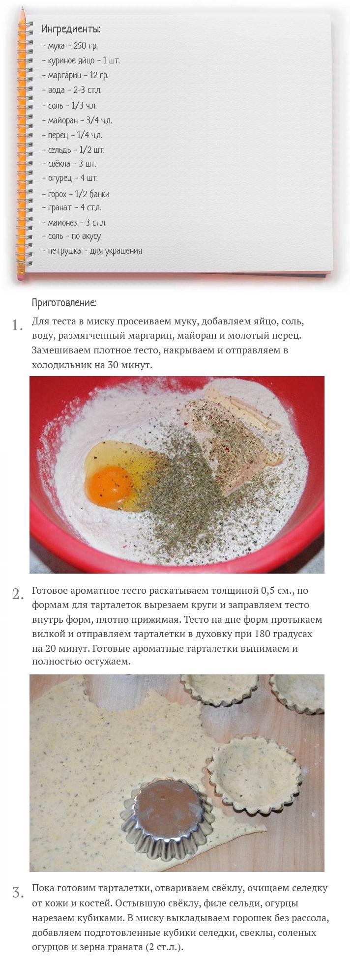 Тарталетки с селедкой и свёклой, изображение №2