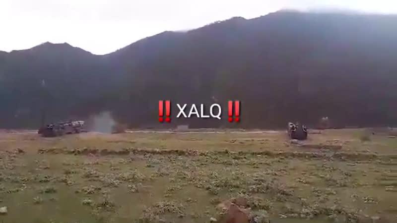 В сети появились кадры парного пуска оперативно тактических ракет 9К72 Эльбрус ВС Армении Дата съёмки неизвестна