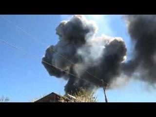 Как горел украинский вертолет в Краматорске