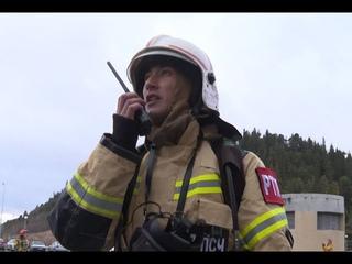 Сотрудники МЧС в Ханты-Мансийске потушили учебный пожар