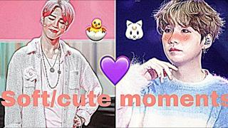 Yoonmin moments: soft/cute moments! 🐣💜💜🐱 #1