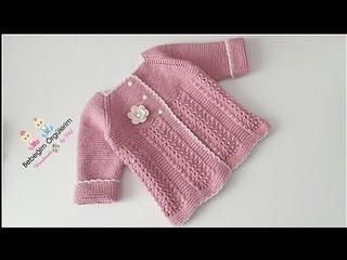 Kedi Patisi Ajur Modelli Bebek Hırkası  #elifpirenvise #baby #crochet