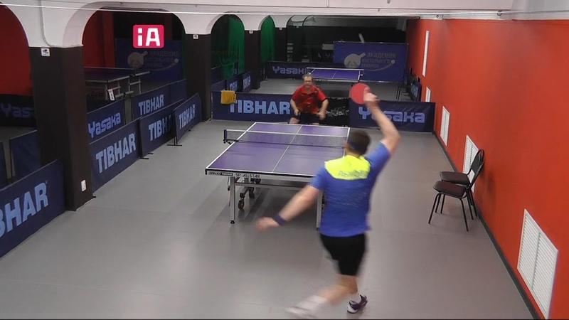 нарезка однажды Чирков А. - Лыков С. 3-2 после турнира по настольному теннису Академия НТ 15.11.2020