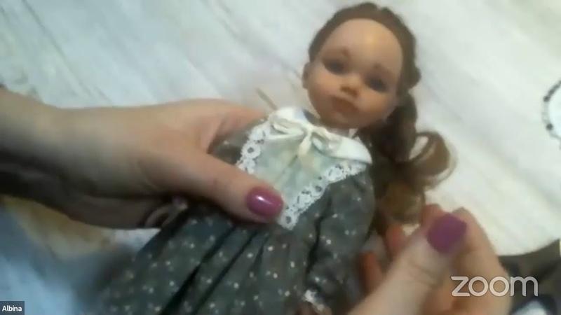 Альбина Глумова Платье на подкладке для кукол и тедди