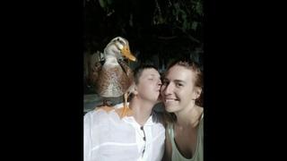 Очень милое видео про уточку Бориславу, по дороге в Нячанг, воспоминание о Муйне, домашнее животное