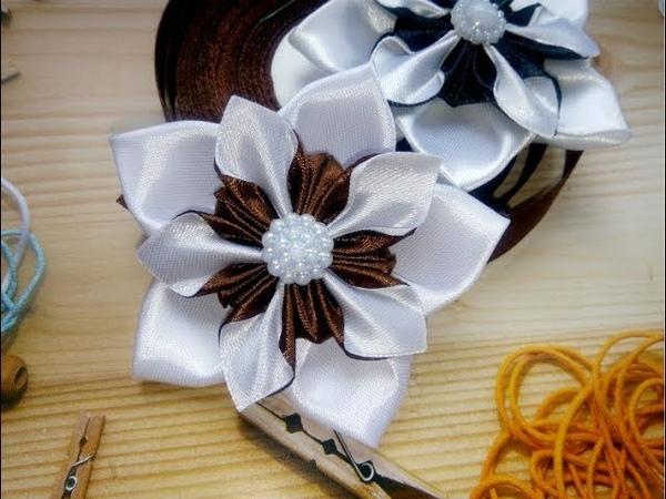 Бантики в школу Бантики на первое сентября Цветы из лент канзаши