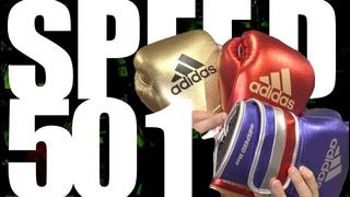 Обзор на боксерские перчатки adidas Speed 501 Metallic style
