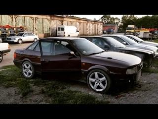 Audi 80 B3 quattro V8 turbo 850hp launch